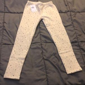GAP Kids Cozy Fleece Leggings colored stars S